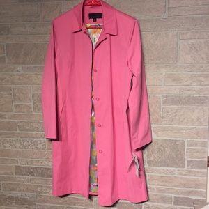 NEW lightweight coat Petal pink Jones NY Sz M NEW